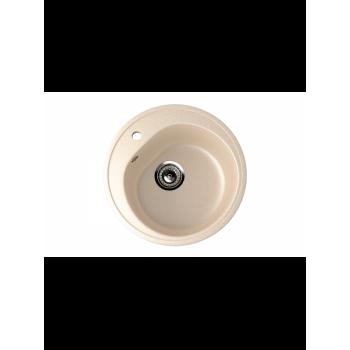 Кухонная мойка врезная MONACO Cercle 500 матовая d500*180