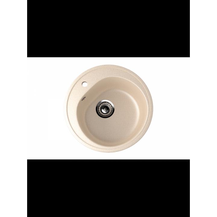Кухонная мойка врезная MONACO Cercle 500 d500*180