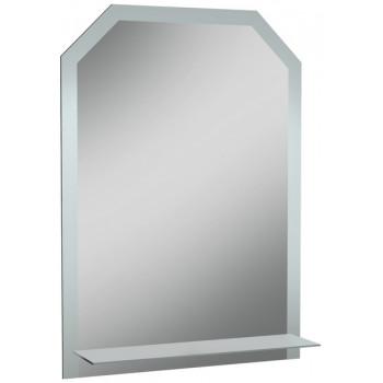 Зеркало навесное ДОМИНО Дом с полкой матовый 50x70 см
