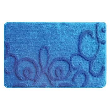 Коврик для ванной комнаты, 50*80 см, полиэстер-акрил, Fairyland (blue), Milardo, 473PA58M12