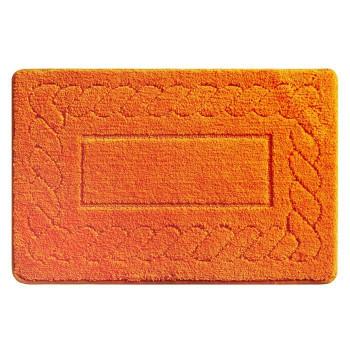 Коврик для ванной комнаты, 50*80 см, микрофибра, Clever Plait (orange), Milardo, 320M580M12