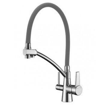 Смеситель для кухни с дополнительным подключением к фильтру для питьвой воды, хром, Comfort, Lemark, LM3071C-Gray