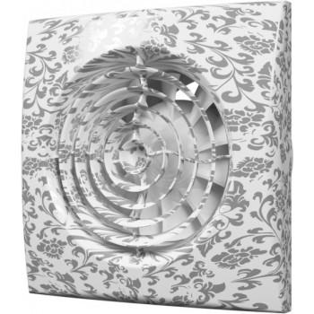 Эра Aura 4C White design Вентилятор накладной 100 мм (90 м³/ч, 220 В, 8.4 Вт, 25 дБ, обр. клапан, ш/подшипники, индикатор, защита, IP25, белый дизайн)