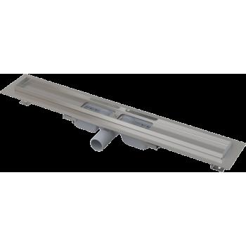 APZ101-650 Low Водоотводящий желоб с порогами для перфорированной решетки, с горизонтальным стоком (сталь)