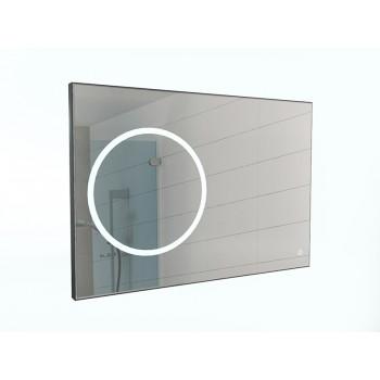 Зеркало Eclipse 100 black с подсветкой Sansa
