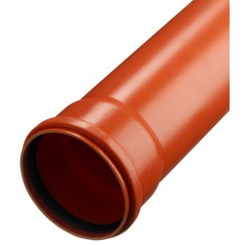 Труба нар.кан.ПП 110 х 1000 Политэк (Рыжая)