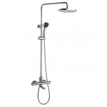 """Смеситель для ванны термостатический с верхней лейкой """"Тропический дождь"""", 1-ф. лейкой, хром, Yeti, Lemark, LM7862C"""