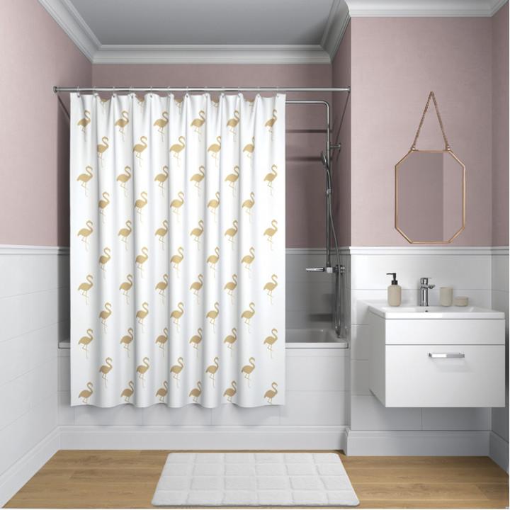 Штора для ванной комнаты, 200*180см, полиэстер, B26P218i11, IDDIS