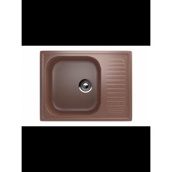 Кухонная мойка врезная MONACO Petit Rectangle матовая 640*490*190