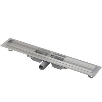 APZ101-750 Low Водоотводящий желоб с порогами для перфорированной решетки, с горизонтальным стоком (сталь)