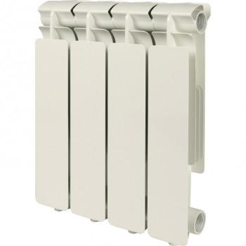 STOUT Bravo 350 4 секции радиатор алюминиевый боковое подключение RAL9010