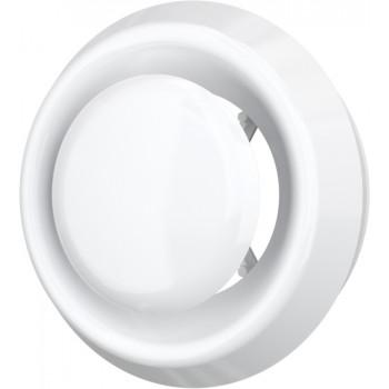 Era 12.5DVLR Анемостат приточно-вытяжной Ø125 мм (фланец, стопорное кольцо, пластиковый)