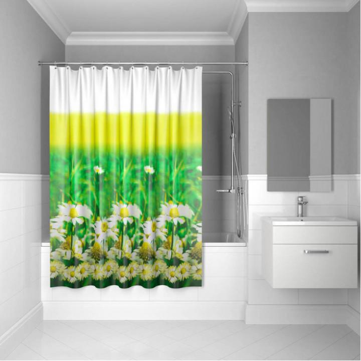 Штора для ванной комнаты, 200*200 см, полиэстер, daisy garden, IDDIS, SCID050P
