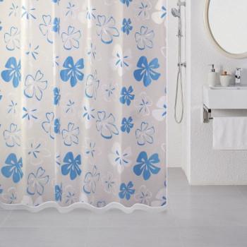 Штора для ванной комнаты, 180*180 см, PEVA, Blue Flowers, Milardo, 509V180M11