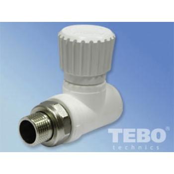 Вентиль для радиаторов прямой ПП 20х1/2″ (TEBO)