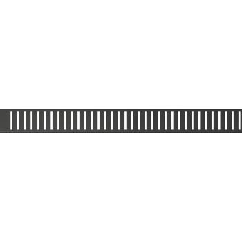 Alca Plast PURE-1150BLACK Решетка для водоотводящего желоба, черный-мат