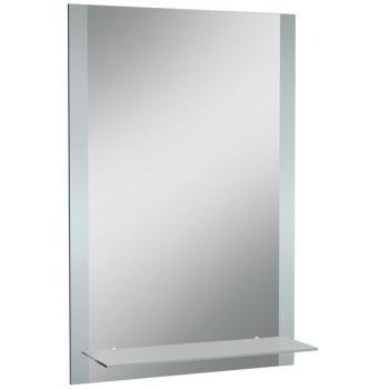 Зеркало навесное ДОМИНО Классика 01 с полкой матовый 50x70 см