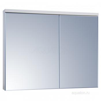 Зеркальный шкаф Aquaton Брук 100 белый 1A200702BC010