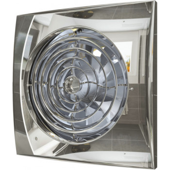 Эра Aura 4C Chrome Вентилятор накладной 100 мм (90 м³/ч, 220 В, 8.4 Вт, 25 дБ, обр. клапан, ш/подшипники, индикатор, защита, IP25, хром)