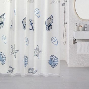 Штора для ванной комнаты, 180*180 см, PEVA, Sea Fantasy, Milardo, 508V180M11