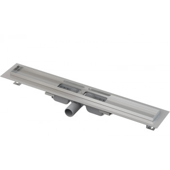 APZ101-950 Low Водоотводящий желоб с порогами для перфорированной решетки, с горизонтальным стоком (сталь)