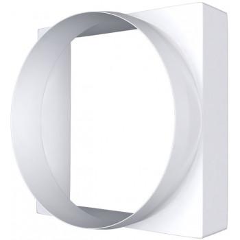 Era 09КВ Соединитель центрального плоского воздуховода с круглым (Ø90 мм, пластик)