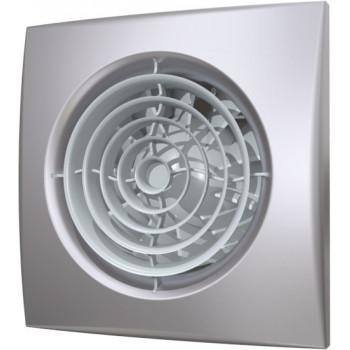Эра Aura 4C Gray Metal Вентилятор накладной 100 мм (90 м³/ч, 220 В, 8.4 Вт, 25 дБ, обр. клапан, ш/подшипники, индикатор, защита, IP25, серый металл)