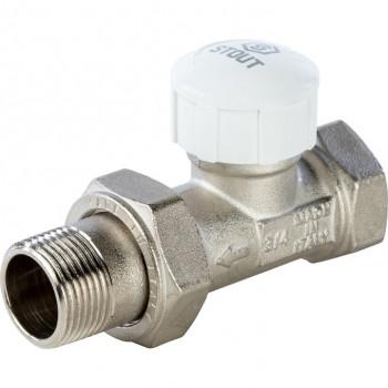 Вентиль термостатический прямой под термоголовку 3/4 STOUT