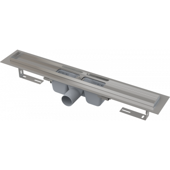 APZ1-550 Водоотводящий желоб с порогами для перфорированной решетки, с горизонтальным стоком (сталь)