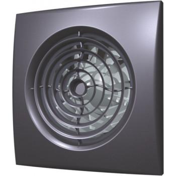 Эра Aura 4C Dark Gray Metal Вентилятор накладной 100 мм (90 м³/ч, 220 В, 8.4 Вт, 25 дБ, обр. клапан, ш/подшипники, индикатор, защита, IP25, темно-серый металл)