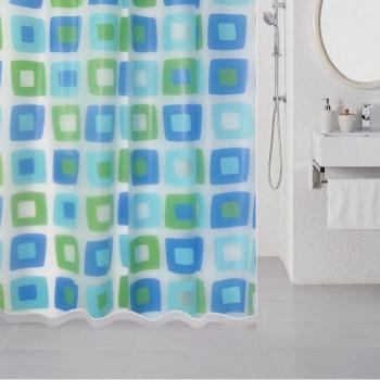 Штора для ванной комнаты, 180*180 см, PEVA, Wonderful Cubes, Milardo, 506V180M11