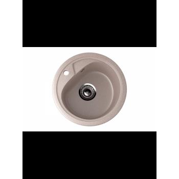 Кухонная мойка врезная MONACO Cercle 450 матовая d450*180