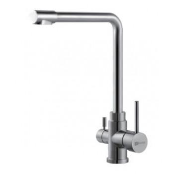 Смеситель для кухни, с подключением к фильтру питьвой воды, сталь, Expert, Lemark, LM5060S