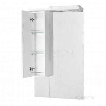 Зеркальный шкаф Aquaton Домус 65 левый белый 1A008202DO01L
