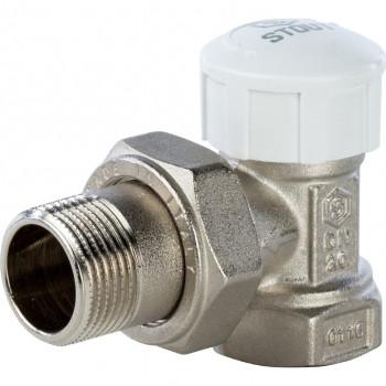 Вентиль термостатический угловой под термоголовку 3/4 STOUT