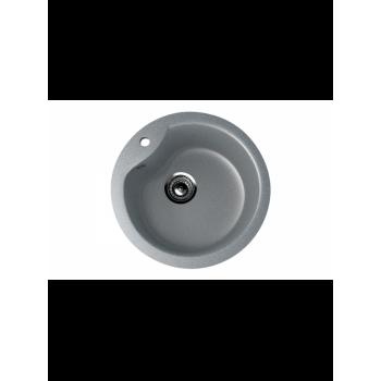 Кухонная мойка врезная MONACO Cercle 475 матовая d450*190
