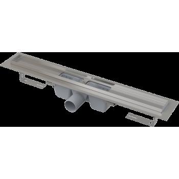 APZ1-750 Водоотводящий желоб с порогами для перфорированной решетки, с горизонтальным стоком (сталь)