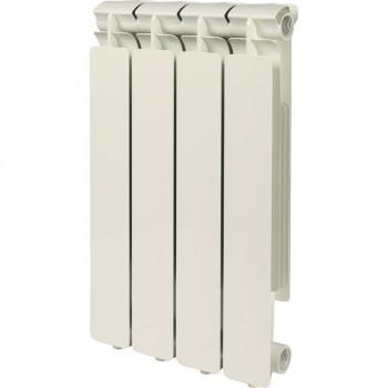 STOUT Bravo 500 4 секции радиатор алюминиевый боковое подключение RAL9010