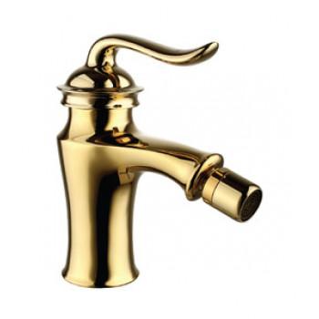 Смеситель для биде с донным клапаном клик-клак, золото, Brava, Lemark, LM4708G