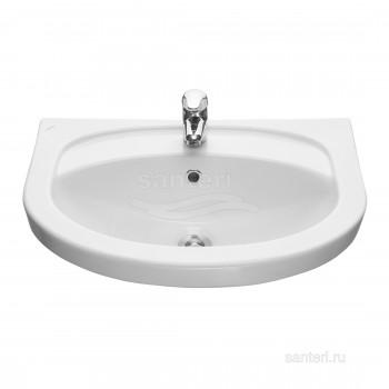 Раковина Santeri Интакт с переливом белый 131204S0011B0