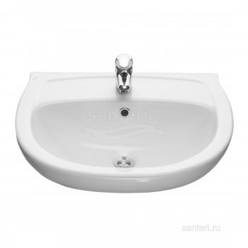 Раковина Santeri Версия с переливом белый 131115S0011B0