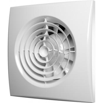 Эра Aura 4C Вентилятор накладной 100 мм (90 м³/ч, 220 В, 8.4 Вт, 25 дБ, обр. клапан, ш/подшипники, индикатор, защита, IP25, белый)