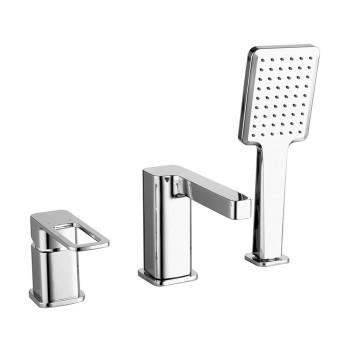 Смеситель на борт ванны на 3 отверстия с керамическим дивертором, хром, Slide, IDDIS, SLISB30i07