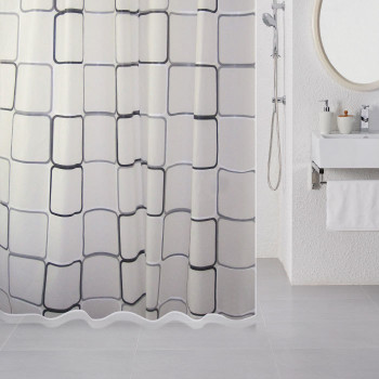 Штора для ванной комнаты, 180*180 см, PEVA, Free Design (white), Milardo, 521V180M11