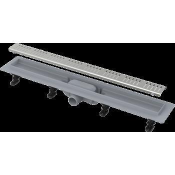 APZ10-850M Simple - Водоотводящий желоб с порогами для перфорированной решетки (полипропилен)
