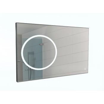 Зеркало Eclipse 120 black с подсветкой Sansa