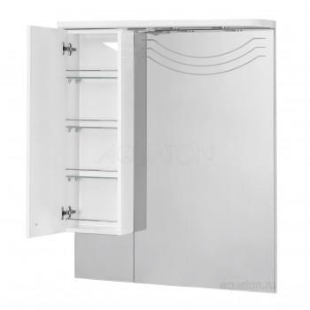 Зеркальный шкаф Aquaton Домус 95 левый белый 1A001002DO01L