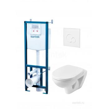 ПЭК Santek Бореаль Пэк 1WH302464 подвесной унитаз+инсталляция +сиденье+панель бел. цвета