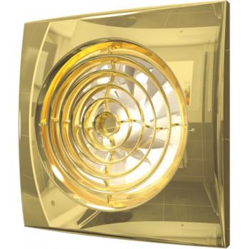 Эра Aura 4C Gold Вентилятор накладной 100 мм (90 м³/ч, 220 В, 8.4 Вт, 25 дБ, обр. клапан, ш/подшипники, индикатор, защита, IP25, золото)