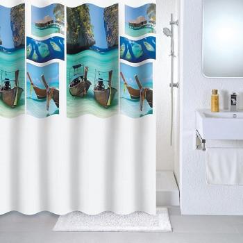 Штора для ванной комнаты, 180*180 см, PEVA, Paradise sky, Milardo, 534V180M11